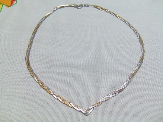 Other Woven Sterling Silver Chevron style necklace