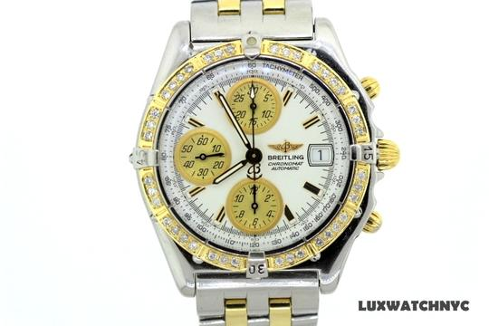 Breitling 1.5CT MEN'S BREITLING CHRONOMAT GOLD DIAMOND BEZEL