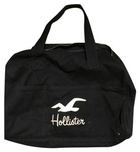 Hollister Navy Blue W/ Cream Logo Travel Bag