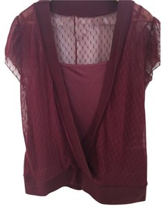 Lane Bryant Top Maroon