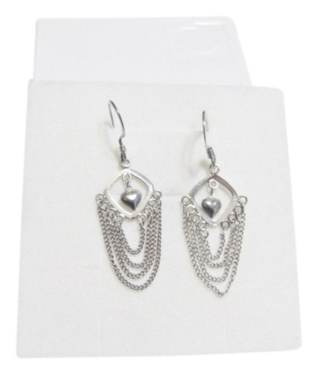 Other Beautiful Dangle Sterling Silver Heart Earrings
