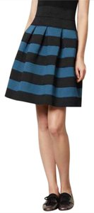 Anthropologie Mini Skirt Blue and black