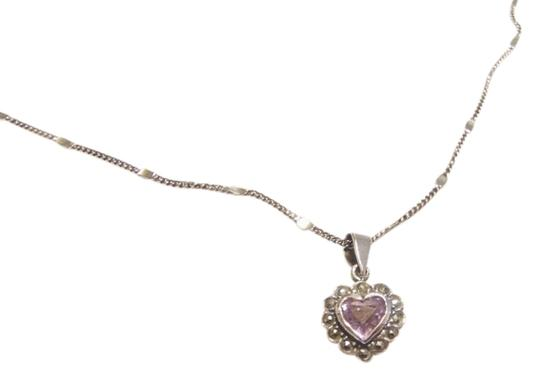 Preload https://img-static.tradesy.com/item/827782/silver-and-lavender-sterling-amethyst-heart-necklace-0-0-540-540.jpg