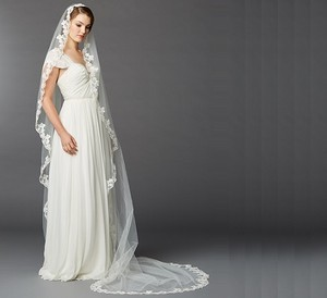Mariell Ivory Lace Cathedral Mantilla Wedding Veil