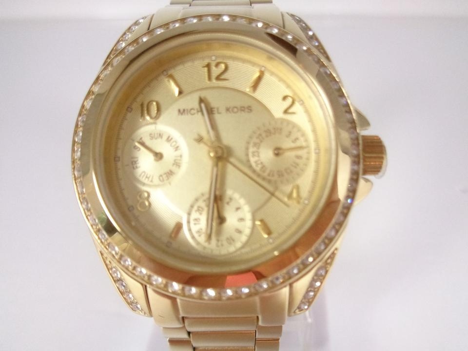 20d58cc2c86d Michael Kors Michael Kors MK5639 Women s Blair Mini Gold Tone Chronograph  Crystal Watch NEW!  275. 12345678910
