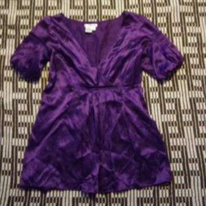Sophie Max Womens Silk Shirt Small Top Purple