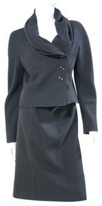 Valentino Valentino Classic Chic Black Wool Skirt Suit