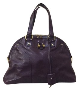 Saint Laurent Satchel in Eggplant