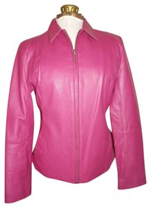 Uniform John Paul Richard fuchsia Leather Jacket