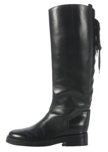 Ann Demeulemeester Black Lace Riding Boots