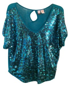 Love on a Hanger Top Teal Blue