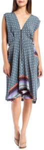 SUNO short dress Multi Blue Silk Crepe Printed on Tradesy