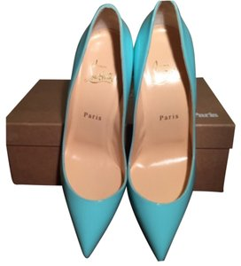 Christian Louboutin Pigalle Follies 100 100mm Opaline Mint Blue Patent Leather So Kate Opaline Blue Pumps