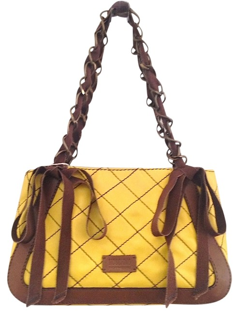 Item - New Quilted Yellow Leather Shoulder Bag