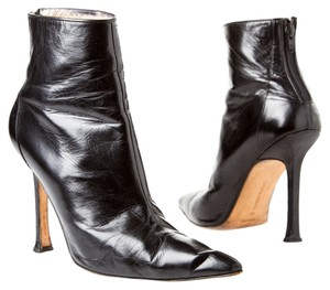 Manolo Blahnik Stiletto Leather black Boots