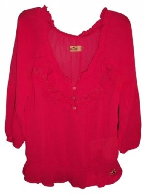 Preload https://img-static.tradesy.com/item/8281/hollister-pink-cinched-bottom-34-sleeve-shirt-blouse-size-2-xs-0-0-650-650.jpg