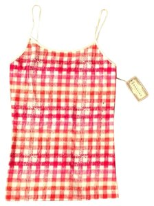 Arizona Jean Company Plaid Top Pink, Orange and White
