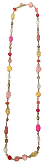 Item - Pink Orange and Yellow Long Necklace