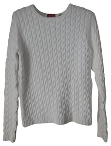 Valerie Stevens Cotton Petite Cable Knit Longsleeve Sweater
