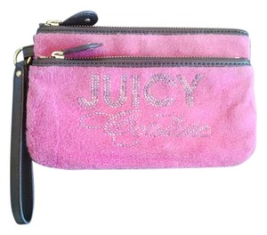 Juicy Couture Spring Wristlet in Pink/Brown