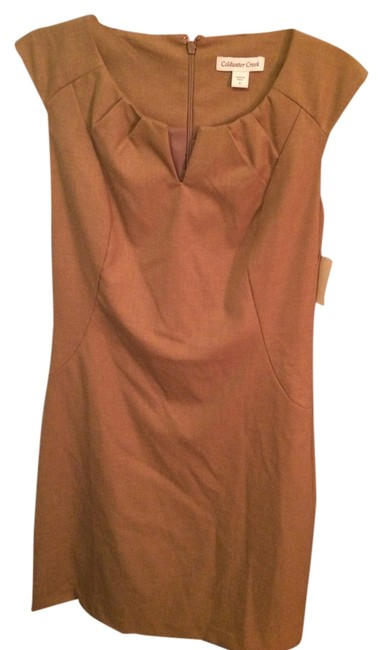 Preload https://item5.tradesy.com/images/coldwater-creek-tan-surfed-twill-sheath-cocktail-dress-size-4-s-828419-0-0.jpg?width=400&height=650