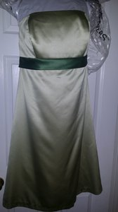 After Six Green (Mint/Clover) Satin Strapless Traditional Bridesmaid/Mob Dress Size 18 (XL, Plus 0x)