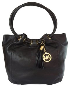MICHAEL Michael Kors Ew East West Ring Tote Leather Shoulder Bag