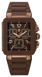 Michele NWT Park Jelly Bean Watch, Brown / Rose Gold watch MWW06L000007