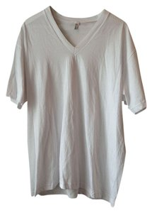 American Apparel T Shirt White V-neck