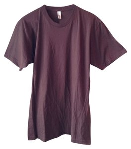 American Apparel T Shirt Brown