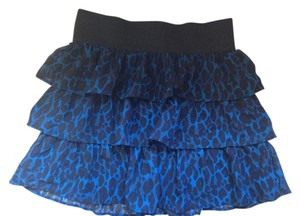 Charlotte Russe Skirt Blue/Black