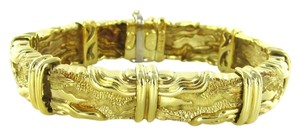 Henry Dunay Designs HENRY DUNAY 18KT YELLOW GOLD BRACELET BANGLE VINTAGE 70.2 GRAMS ESTATE JEWELRY
