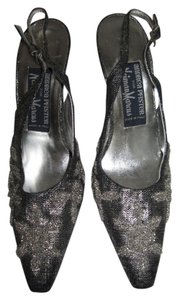 Saks Fifth Avenue Silver, Black Pumps