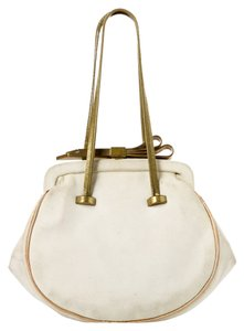 Chloé Suede Wristlet in Off White
