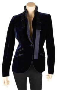 Gucci Velvet Blue New Navy Blue Blazer