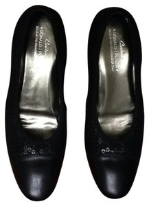 Donald J. Pliner J Couture 6.5 Black, Leather, Sequins Flats