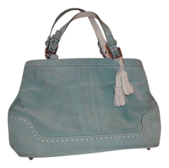 Coach Satchel in Powder Blue