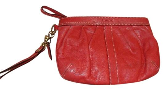 Coach Wristlet in Peach