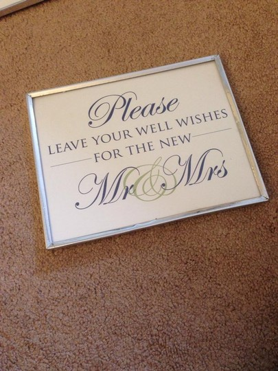 Guestbook Sign Frame Included
