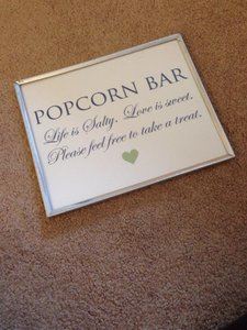 Custom Made Popcorn Bar Sign