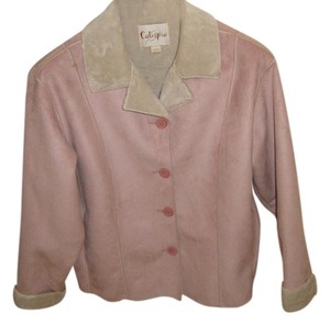 Catispia Suede-like Sherpa Dusty Pink Jacket