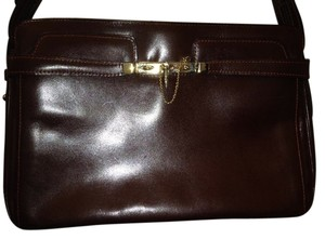 Italian Purses Vintage Leather Satchel in Redish Brown