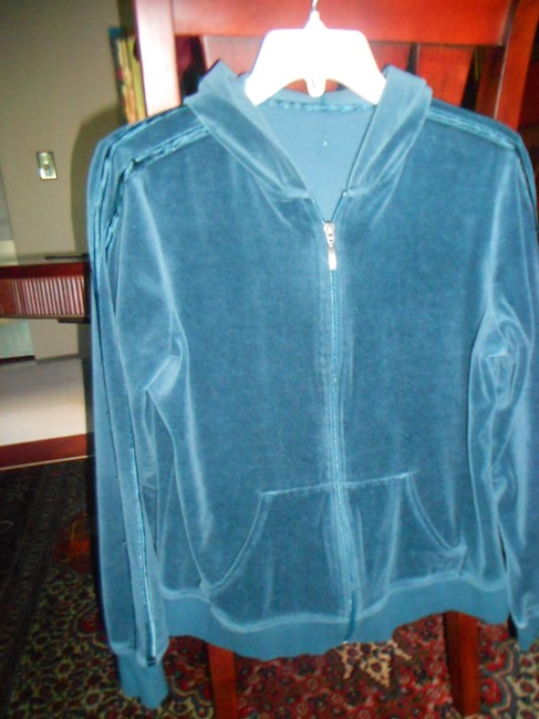 Other AQUA GREEN/BLUE S/M VELOUR WITH SATIN TRIM JACKET