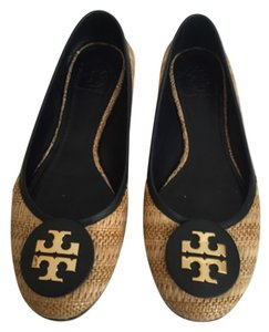 Tory Burch Straw/Navy Flats