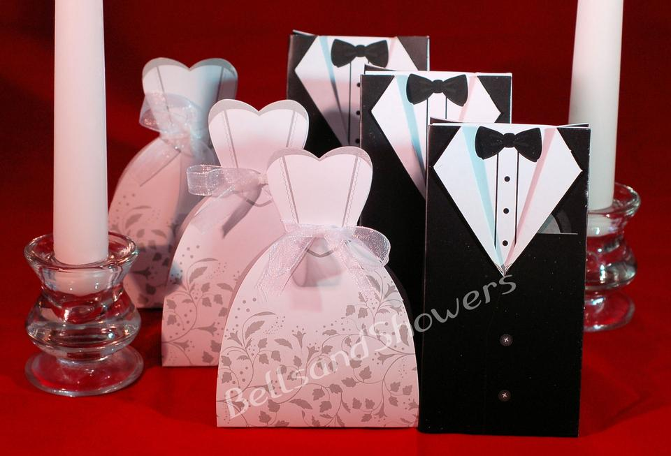 Black and White 100 Bride & Groom Wedding Favor Boxes - Tradesy