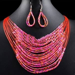 2pc Beaded Necklace Earring Set Free Shipping