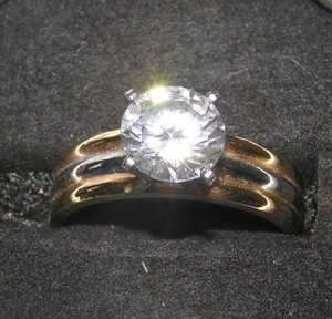 Sensational 1ct White Topaz Engagement Ring Free Shipping