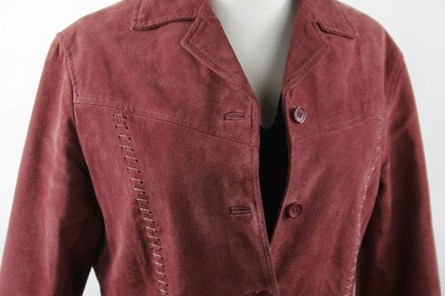 Van Heusen Suede Jacket Suede Size Small Dusty Rose Slightly Fitted Suede Mauve Blazer