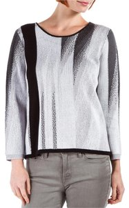 Helmut Lang Black Grey White Print Sweater