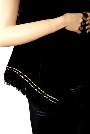 Preload https://img-static.tradesy.com/item/829849/black-velvet-with-gold-stitching-and-black-tassles-scarfwrap-0-0-540-540.jpg